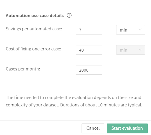 Screenshot: Creating new evaluation step 2